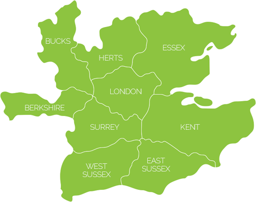 Map of the South East